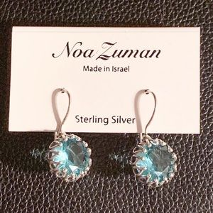 Noa Zuman Sterling Silver Blue Quartz Earrings